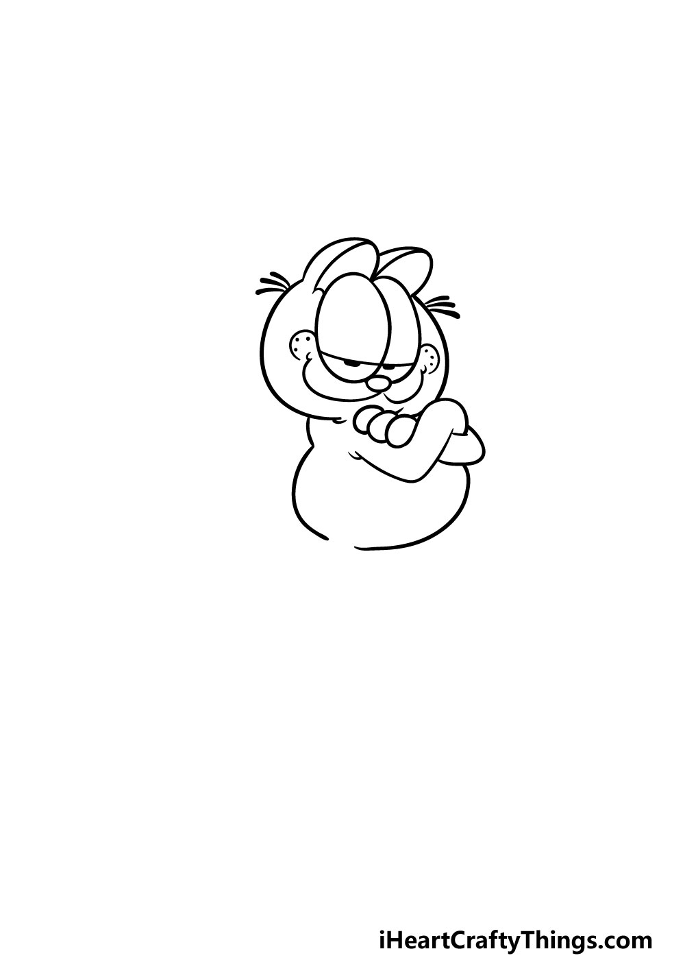 drawing Garfield step 2