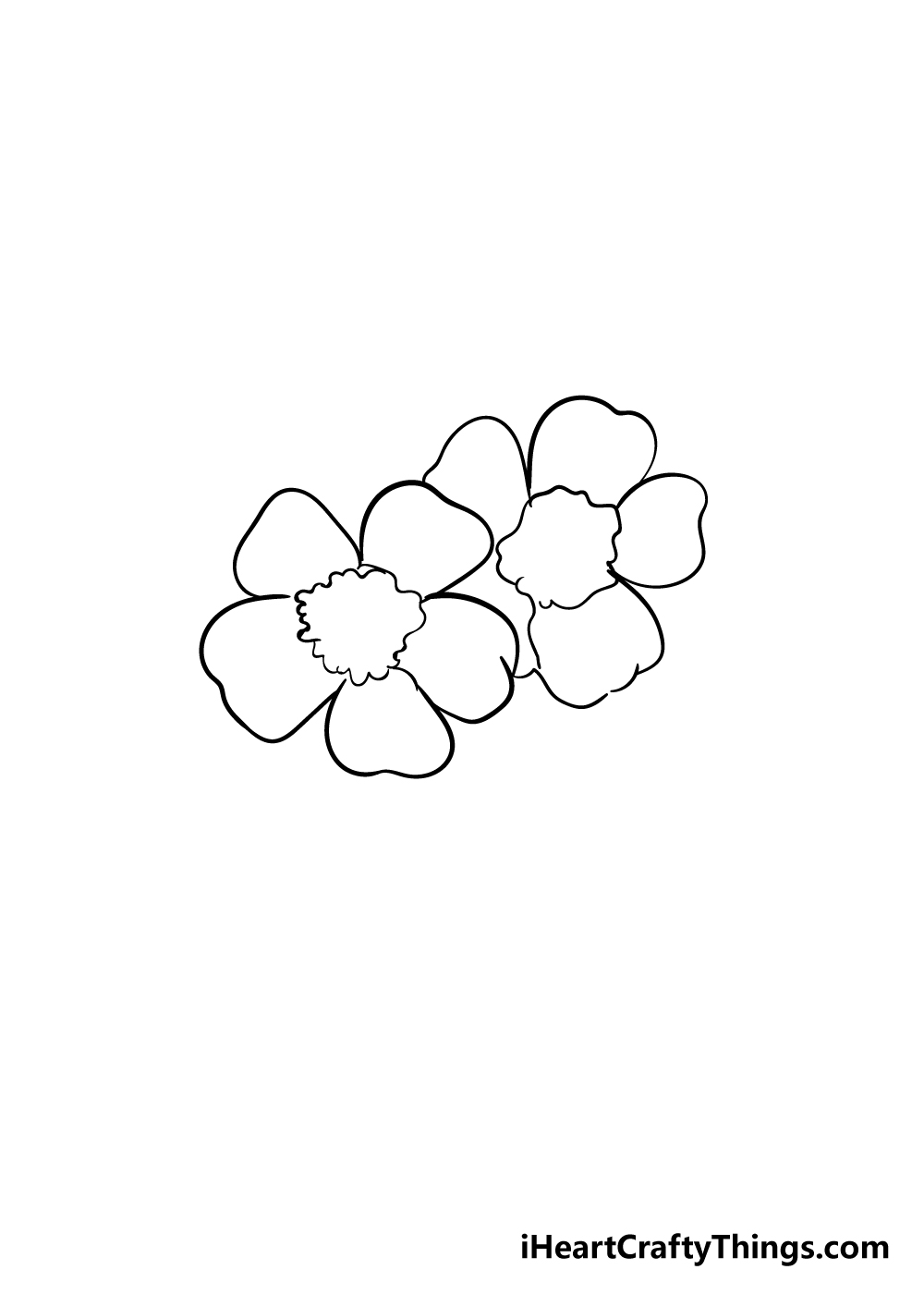 cherry blossoms drawing step 3