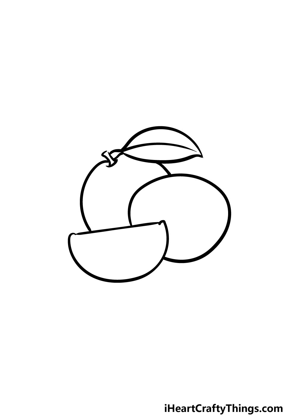 drawing oranges step 3