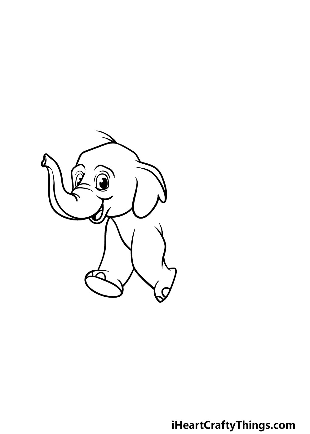 drawing a baby elephant step 3