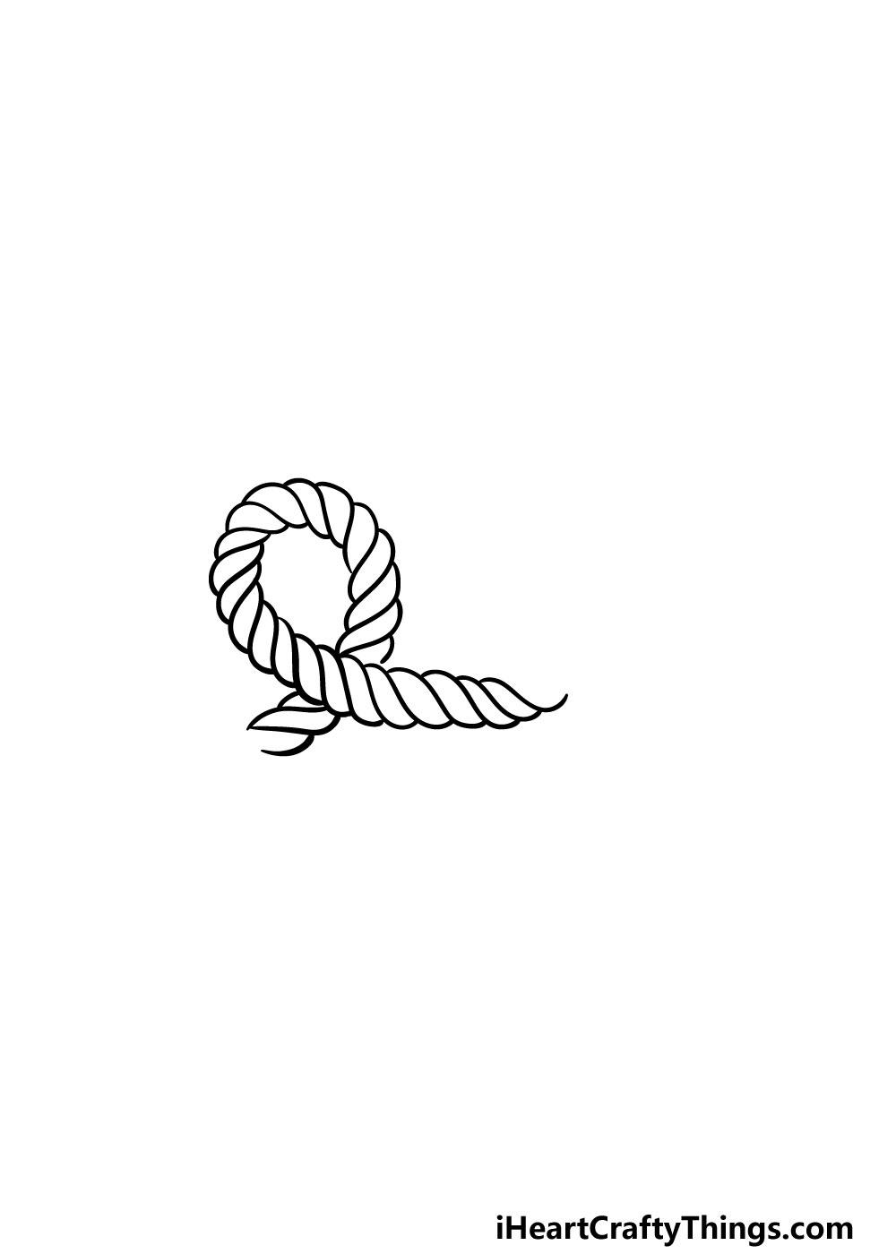 drawing rope step 3