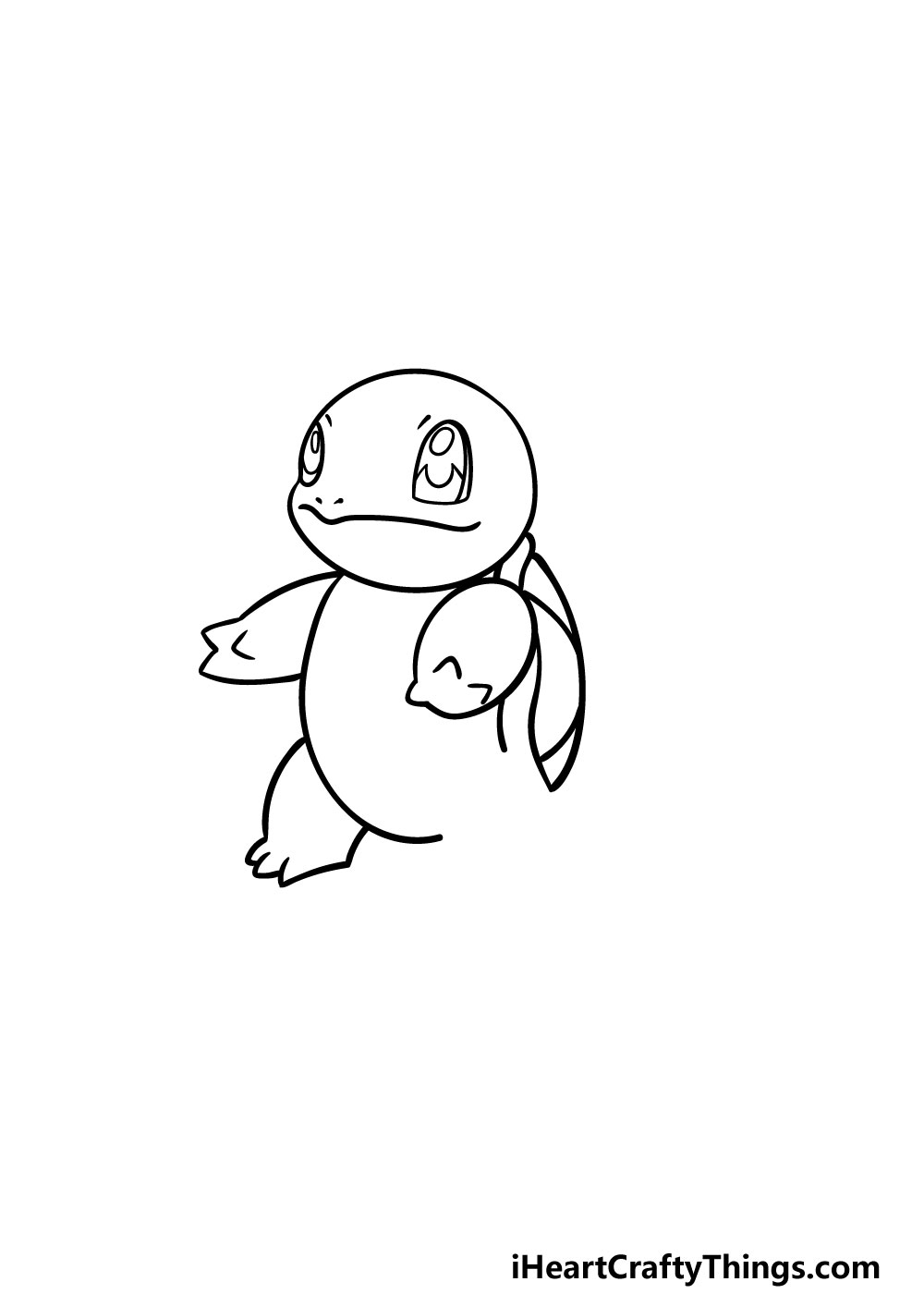 drawing squirtle step 3