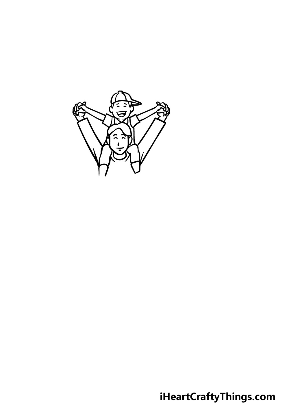 drawing a family step 3
