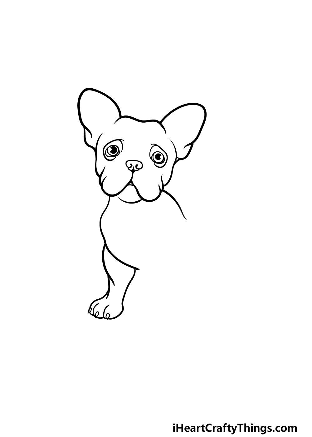 drawing a french bulldog step 3