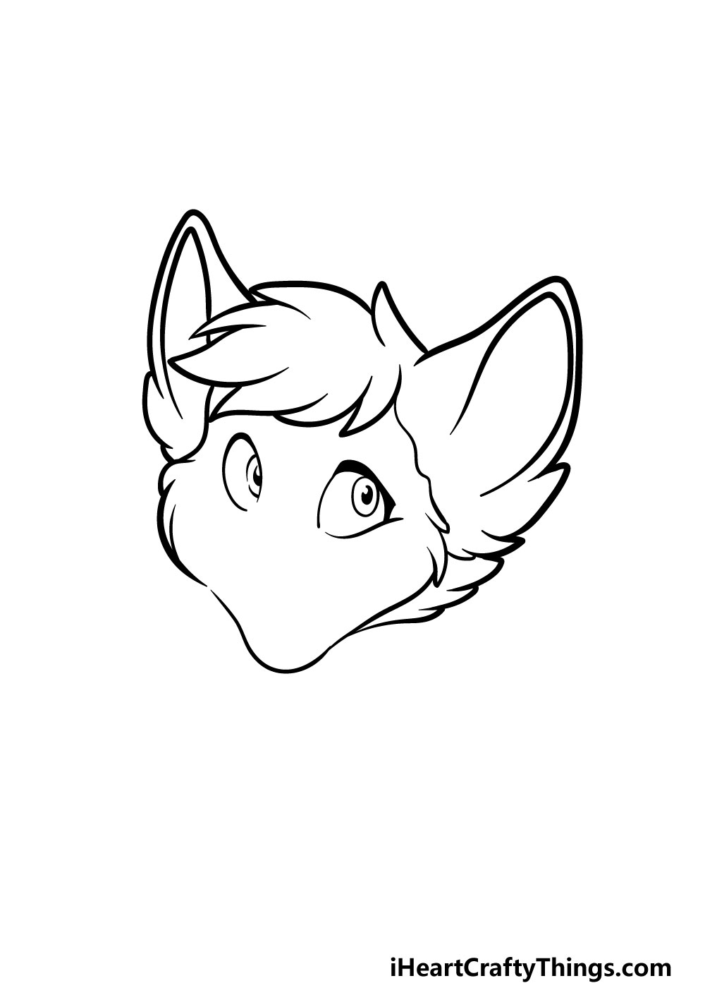 drawing a furry head step 3