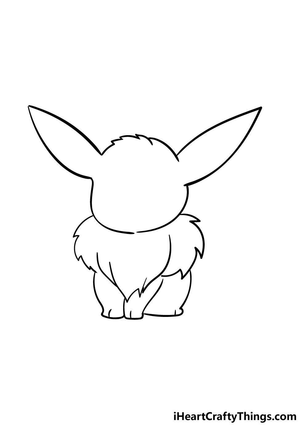 eevee drawing step 3