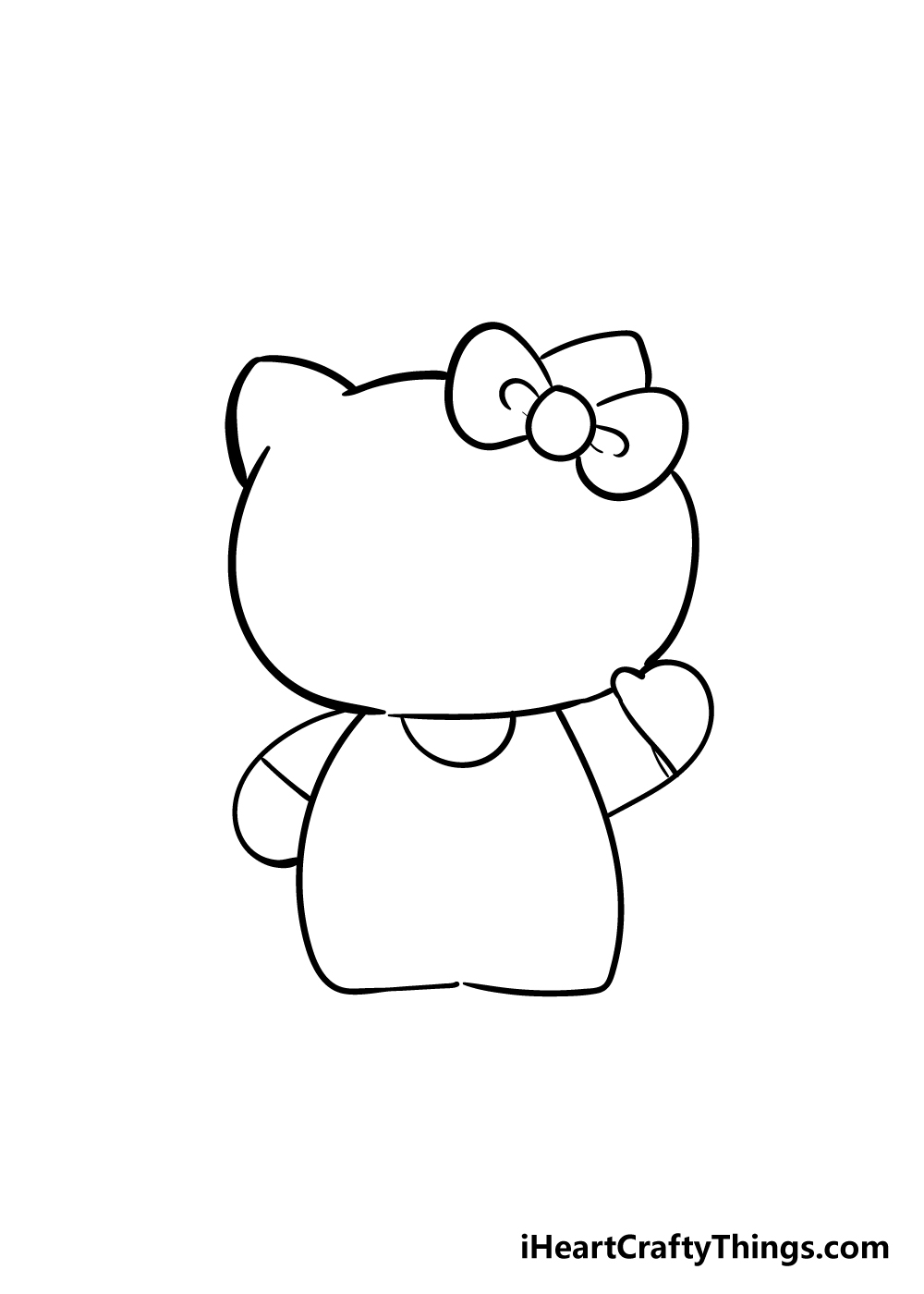 hello kitty drawing step 3