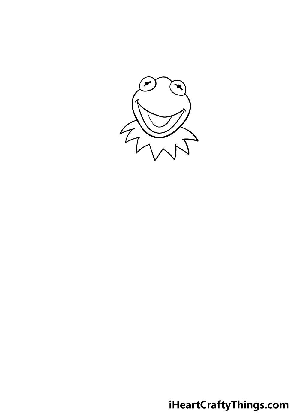 drawing Kermit the frog step 3