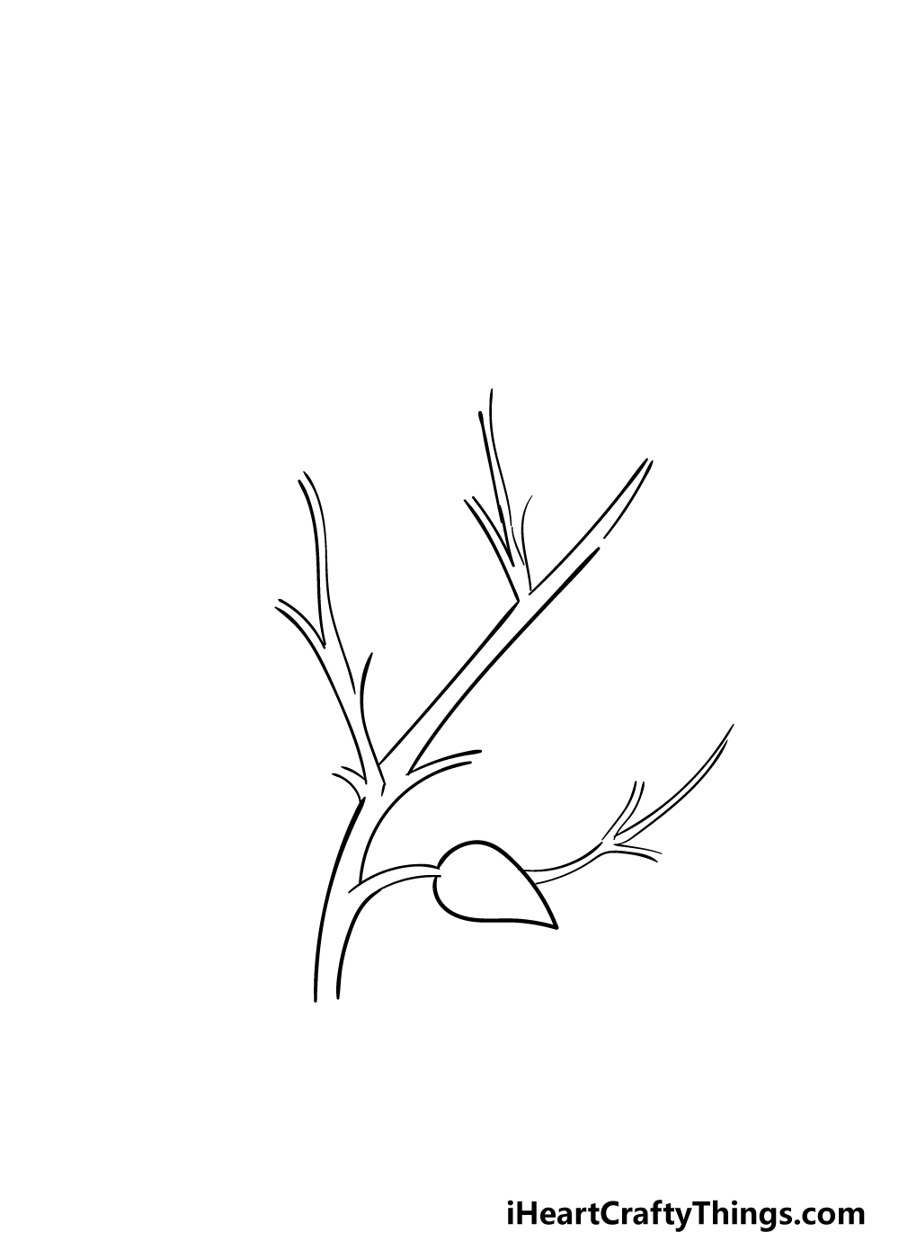 leaves on a tree drawing step 3