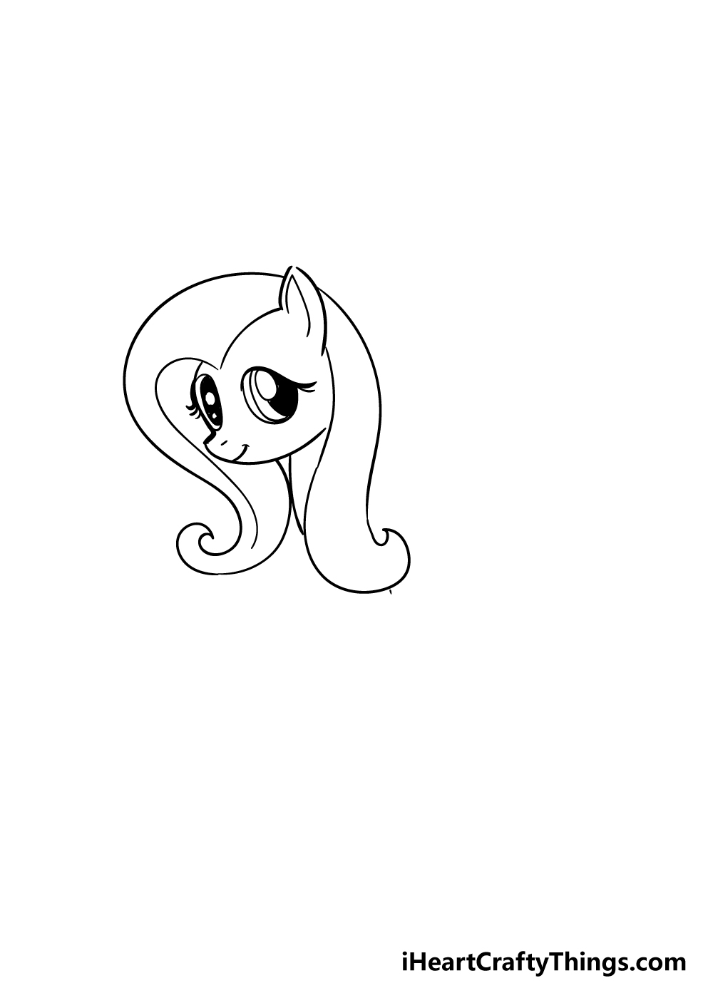 my little pony drawing step 3