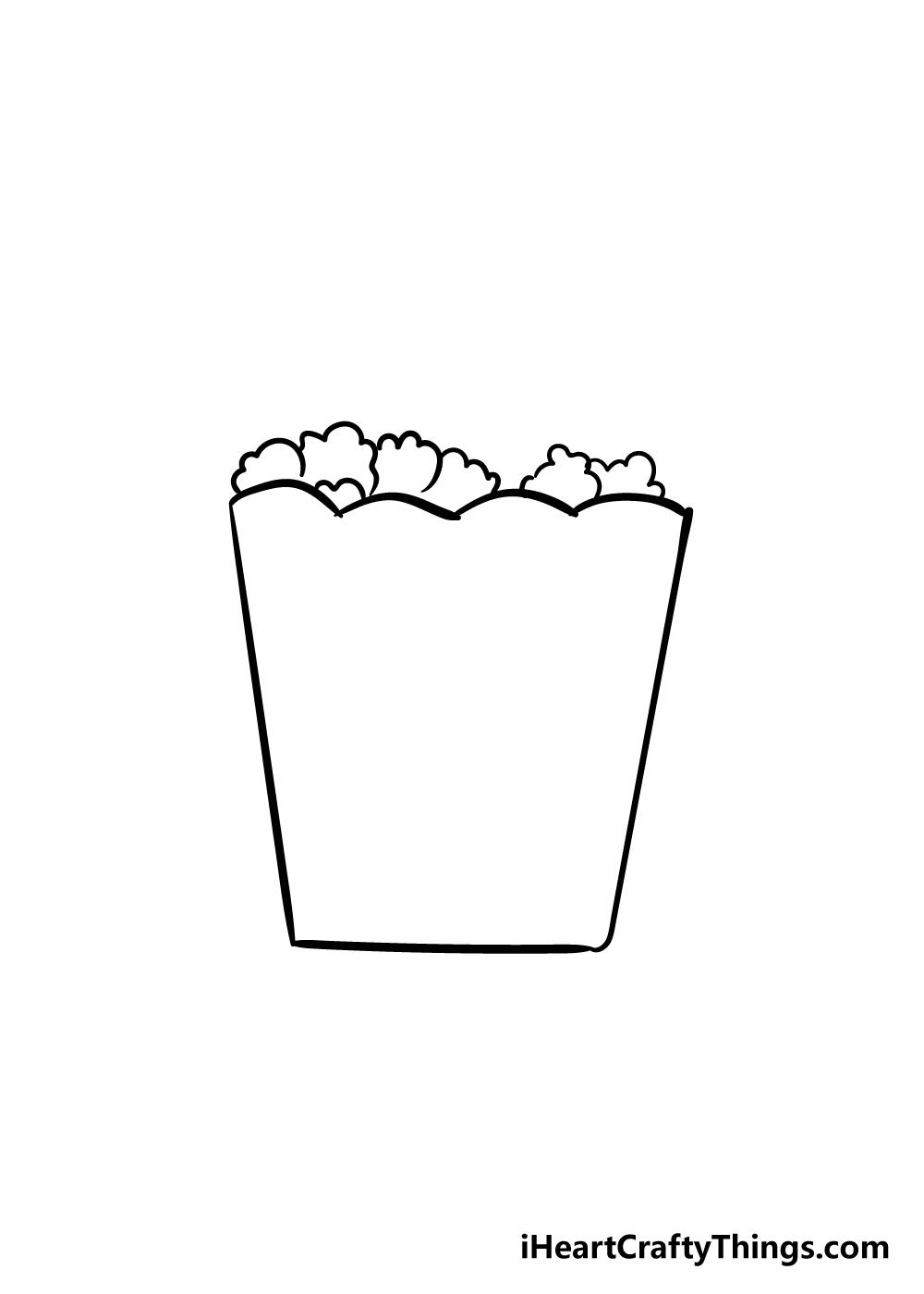 popcorn drawing step 3