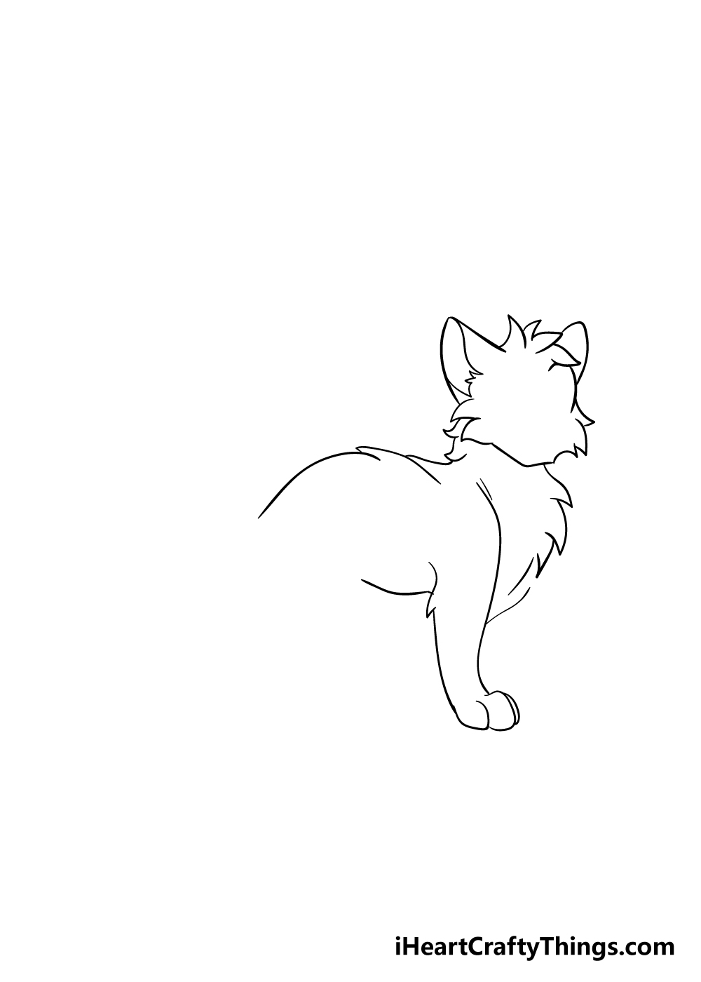 warrior cats drawing step 3