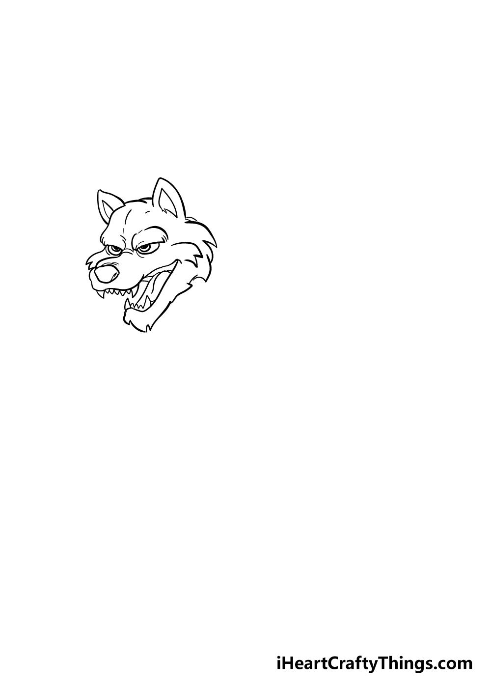 werewolf drawing step 3