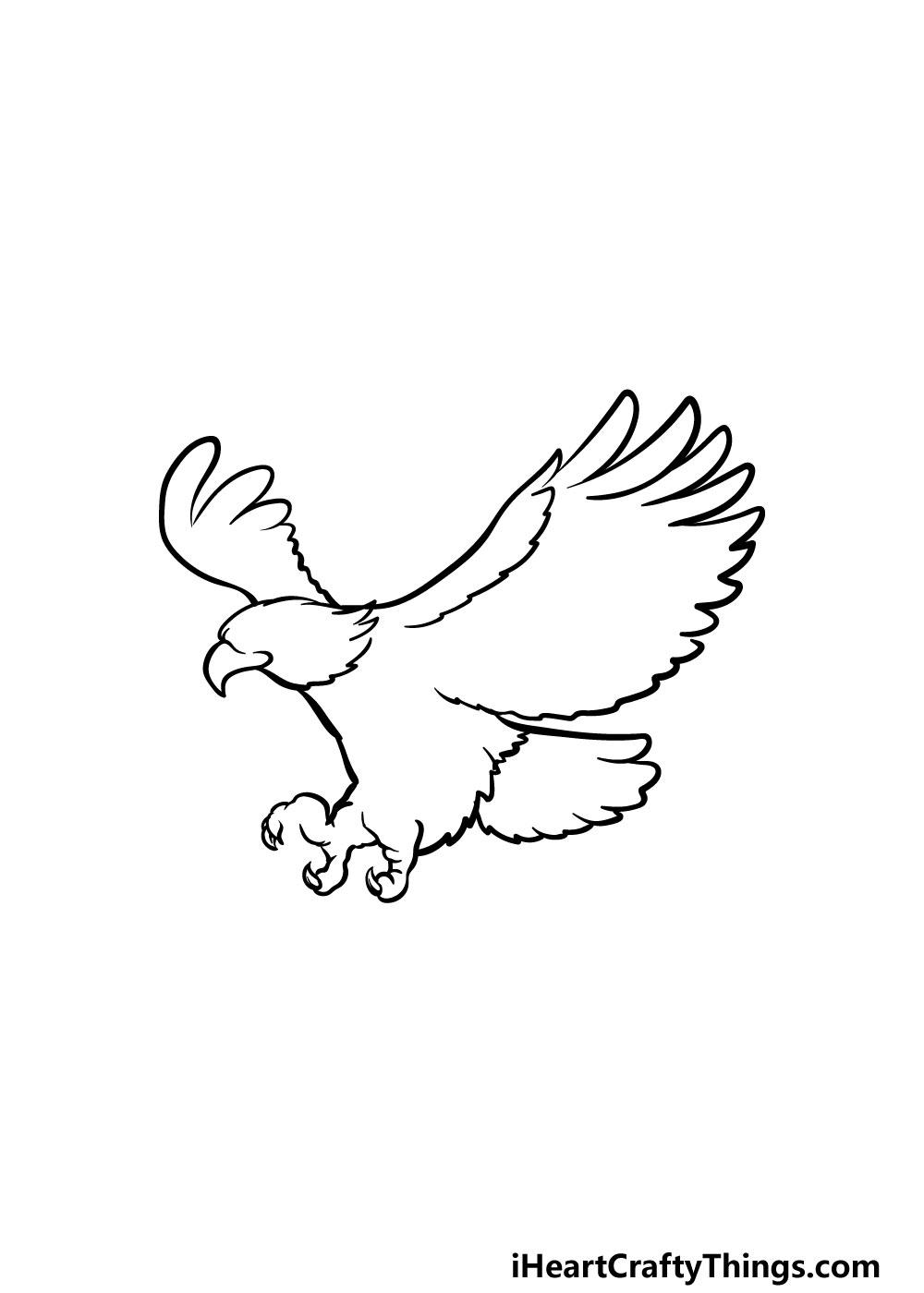 bald eagle drawing step 3