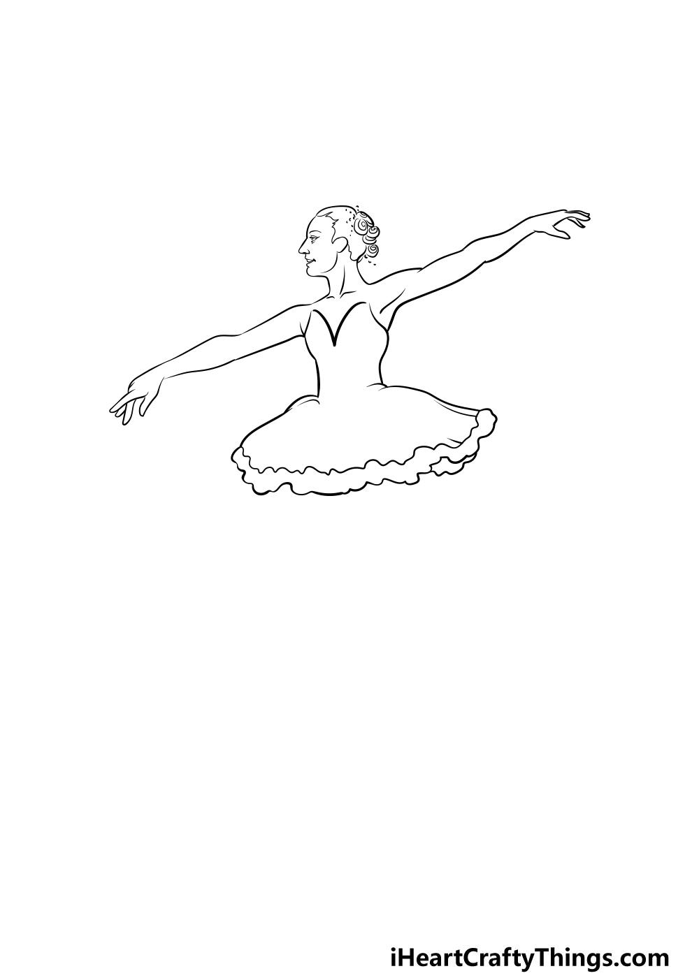ballerina drawing step 3