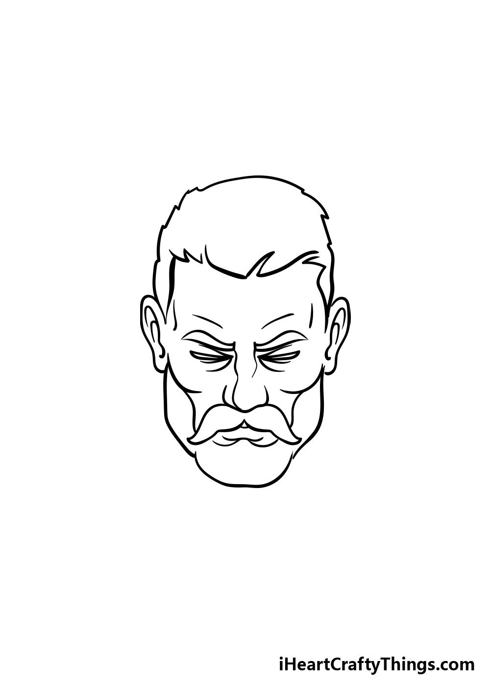 drawing a beard step 3