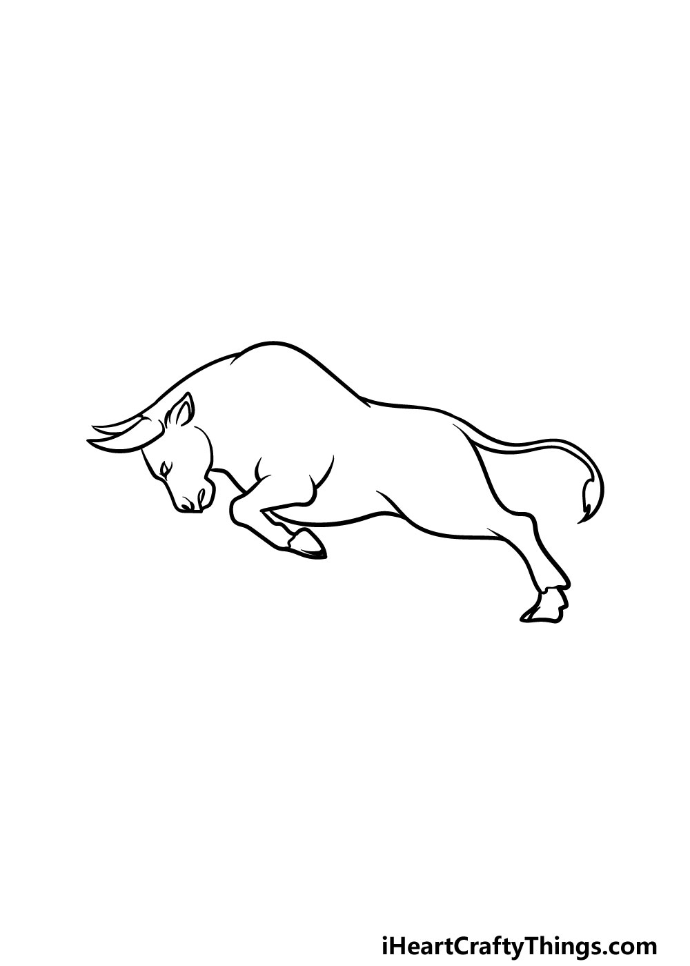 drawing a bull step 3