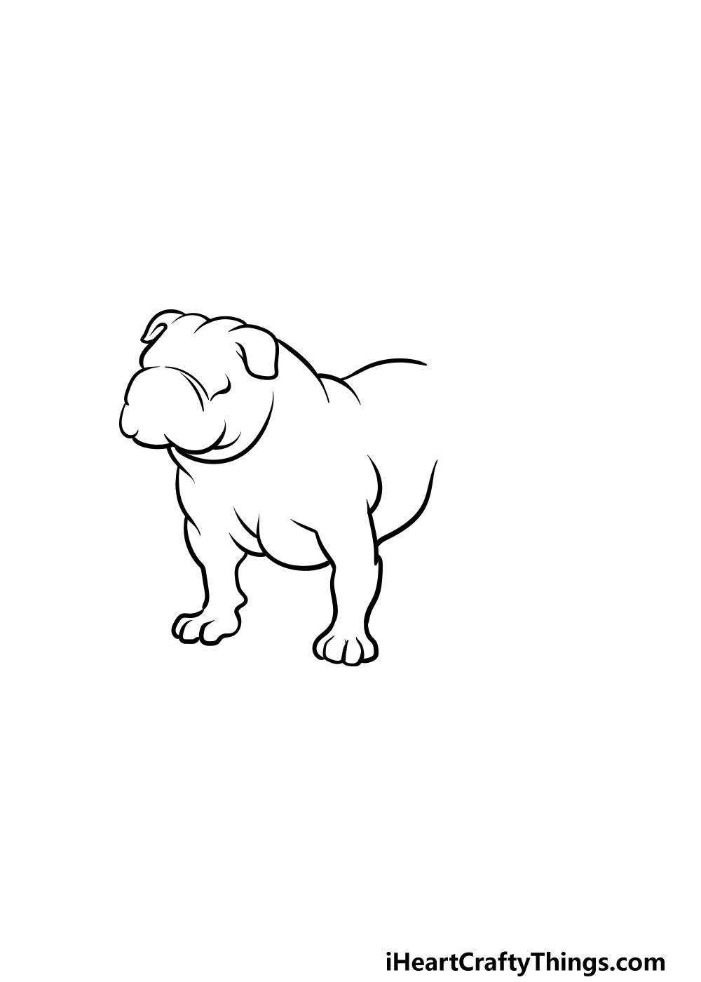 drawing bulldog step 3
