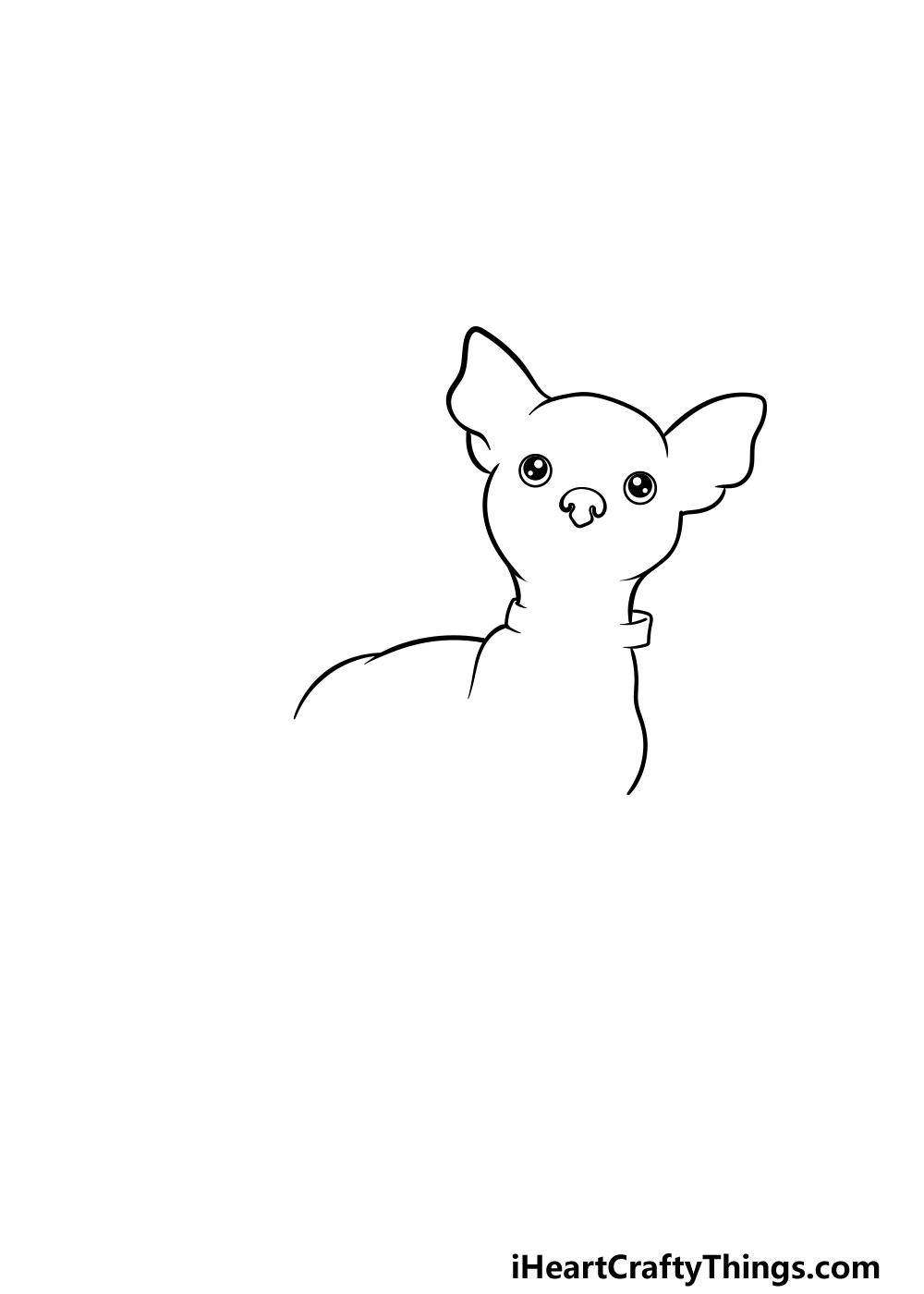 drawing a chihuahua step 3