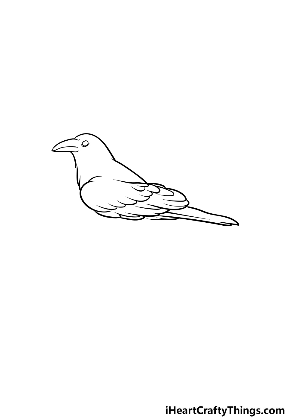 drawing a crow step 3