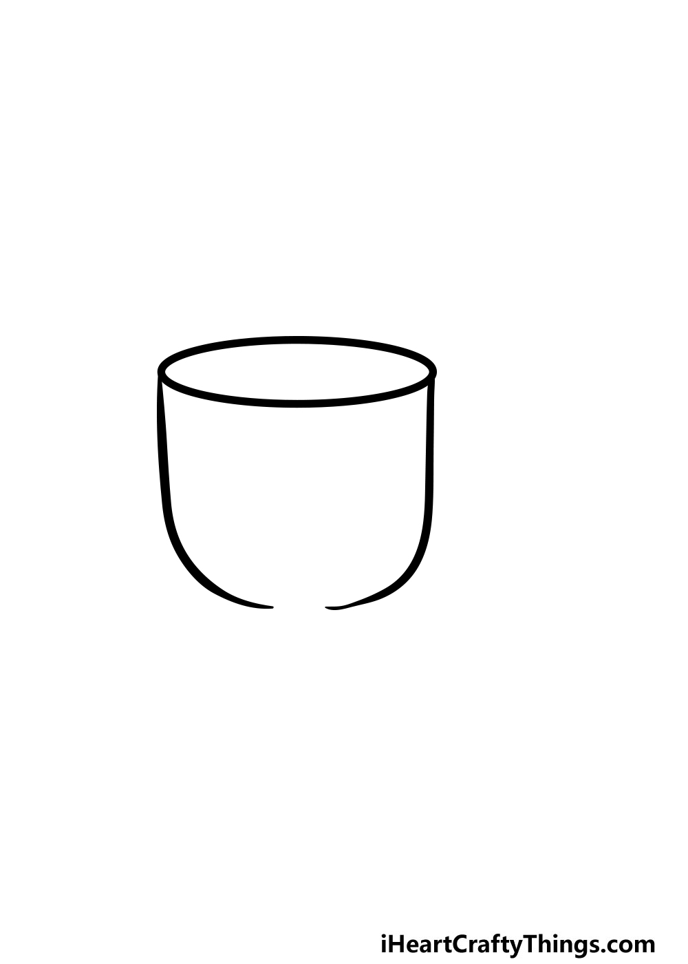 drawing a cup step 3