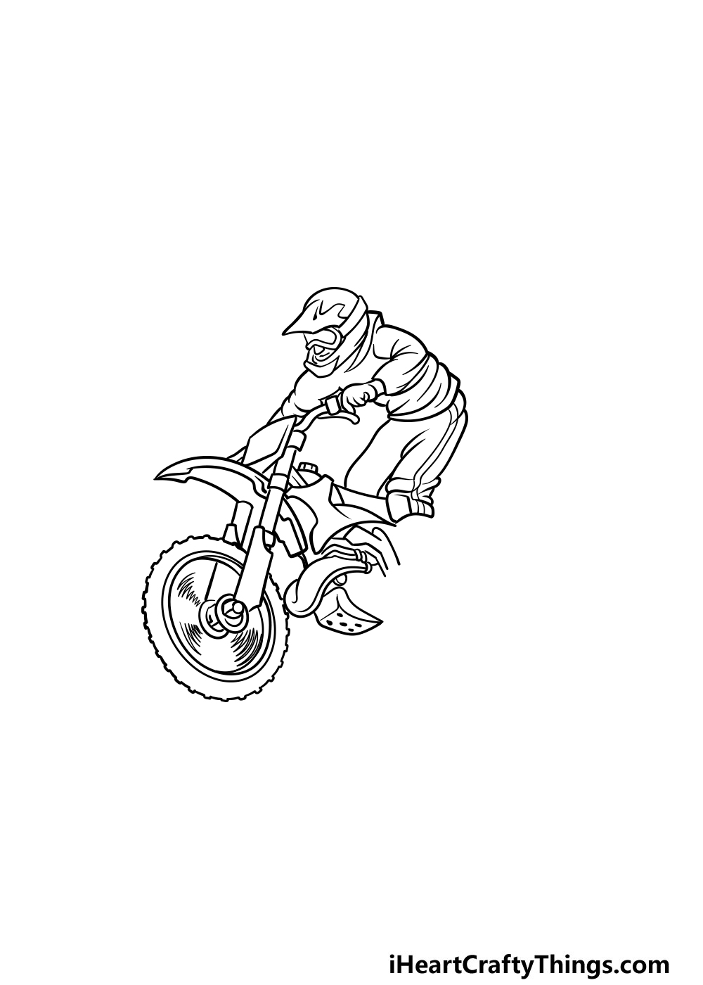 drawing a dirt bike step 3