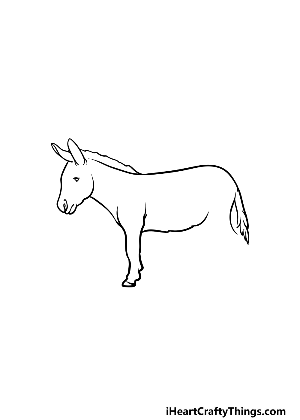 drawing a donkey step 3
