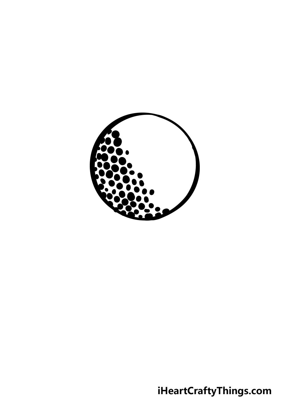 drawing a golf ball step 3