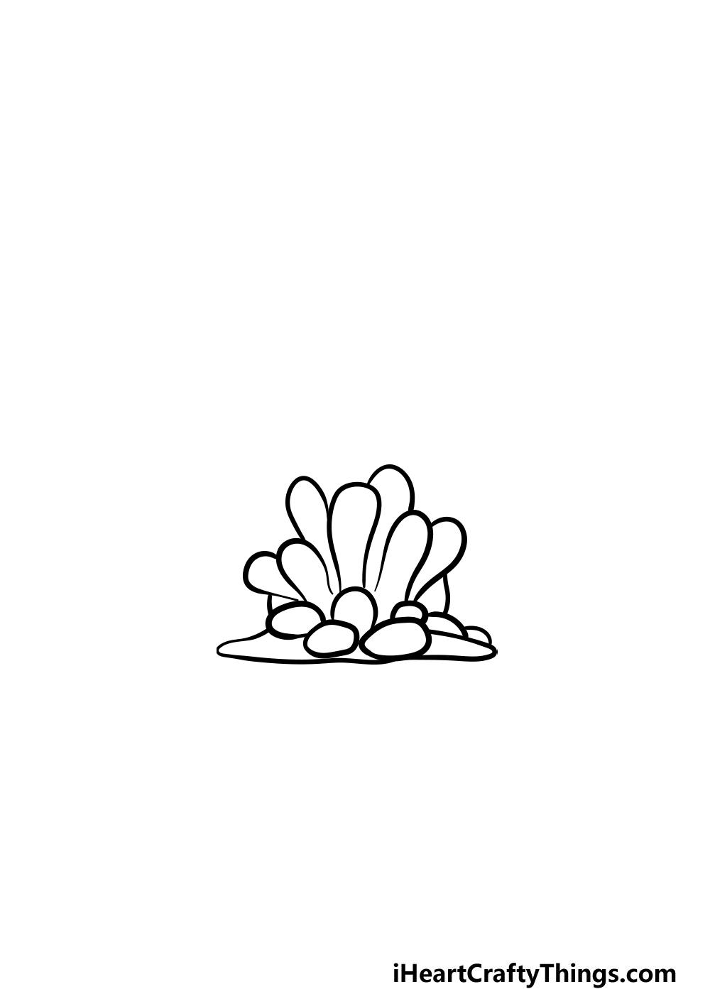 dibujando un coral paso 3