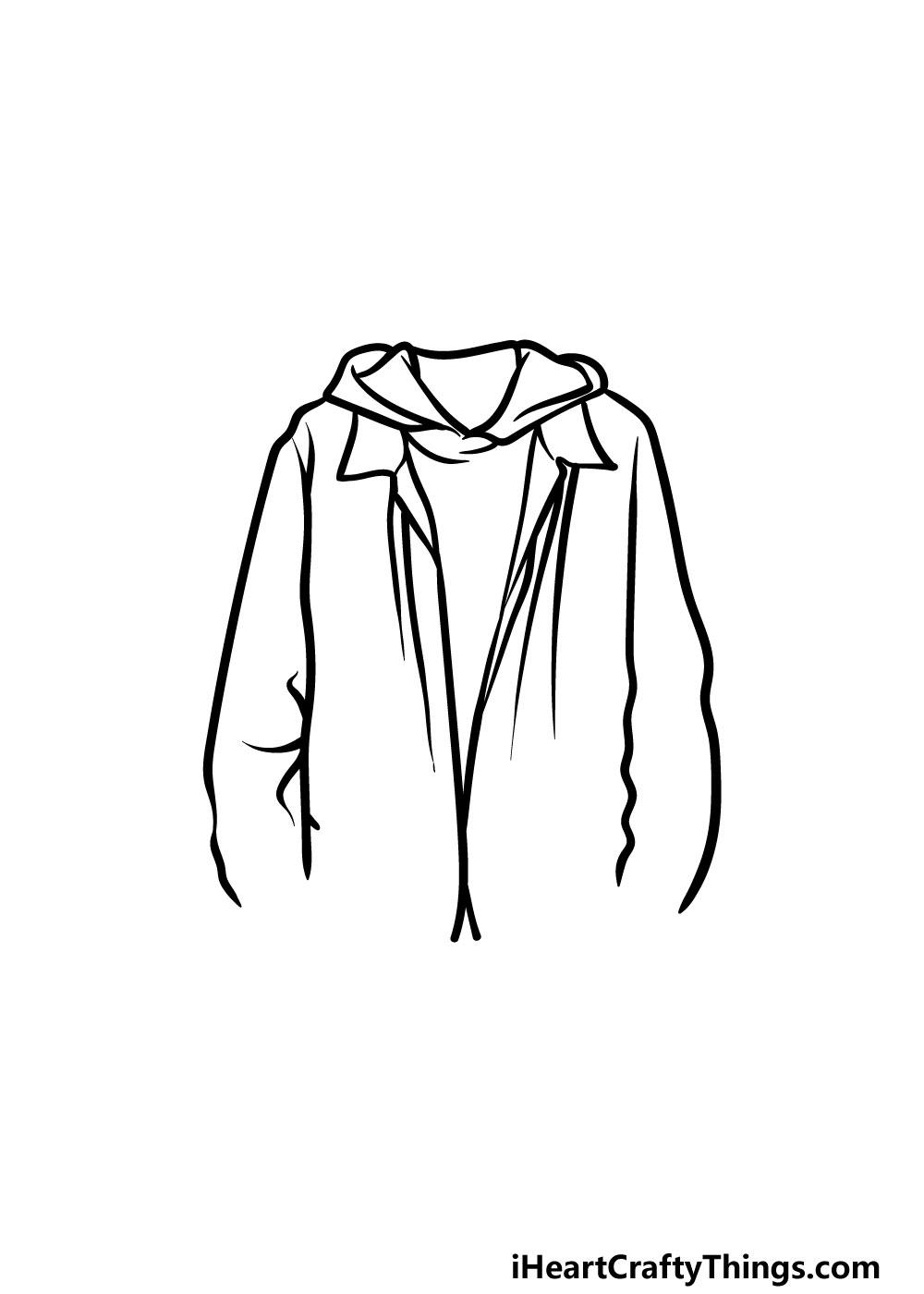 drawing a jacket step 3