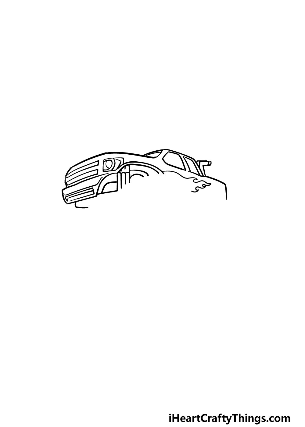 drawing a monster truck step 3