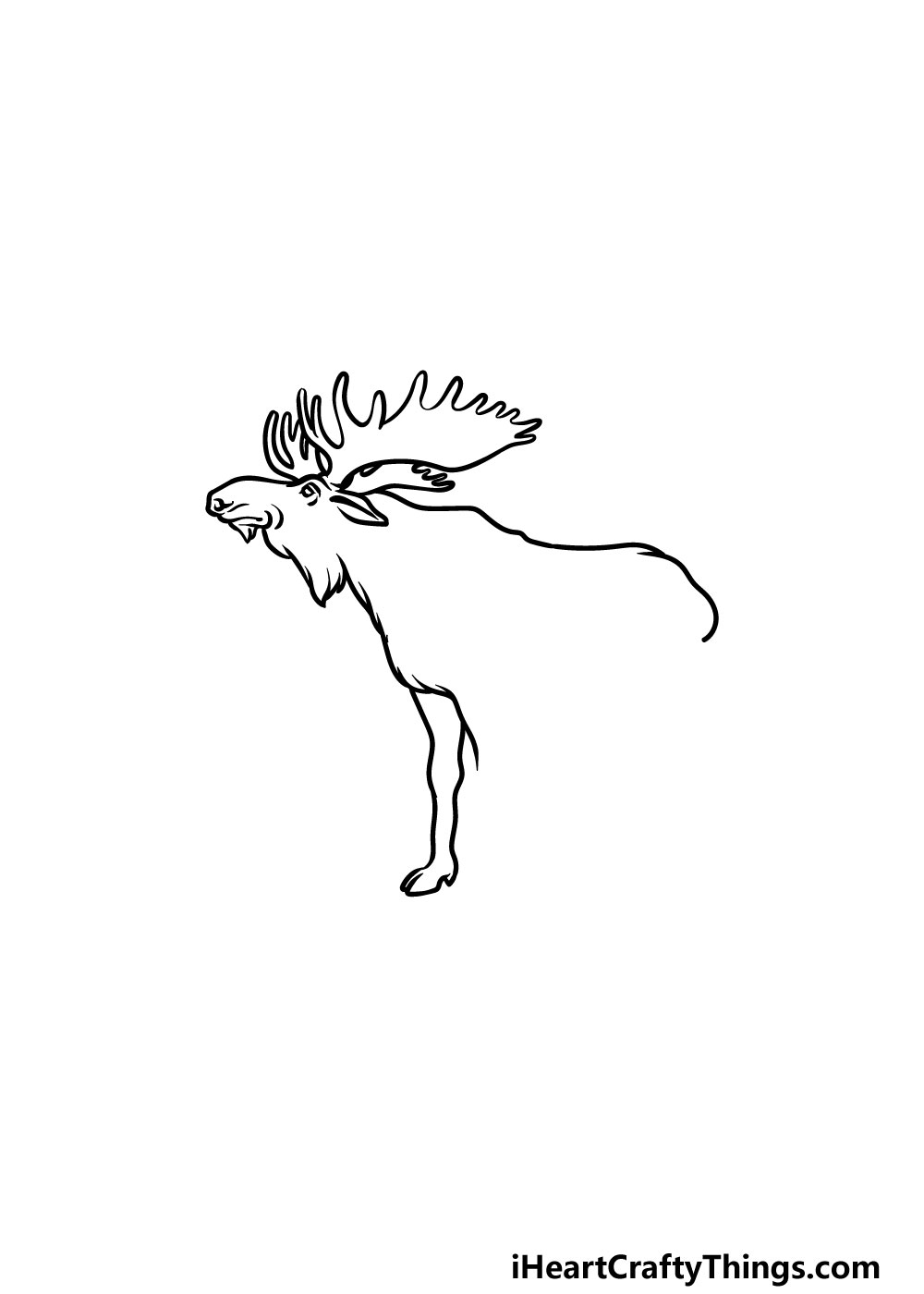 drawing a moose step 3