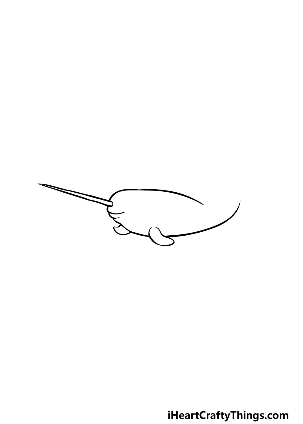 drawing a narwhal step 3
