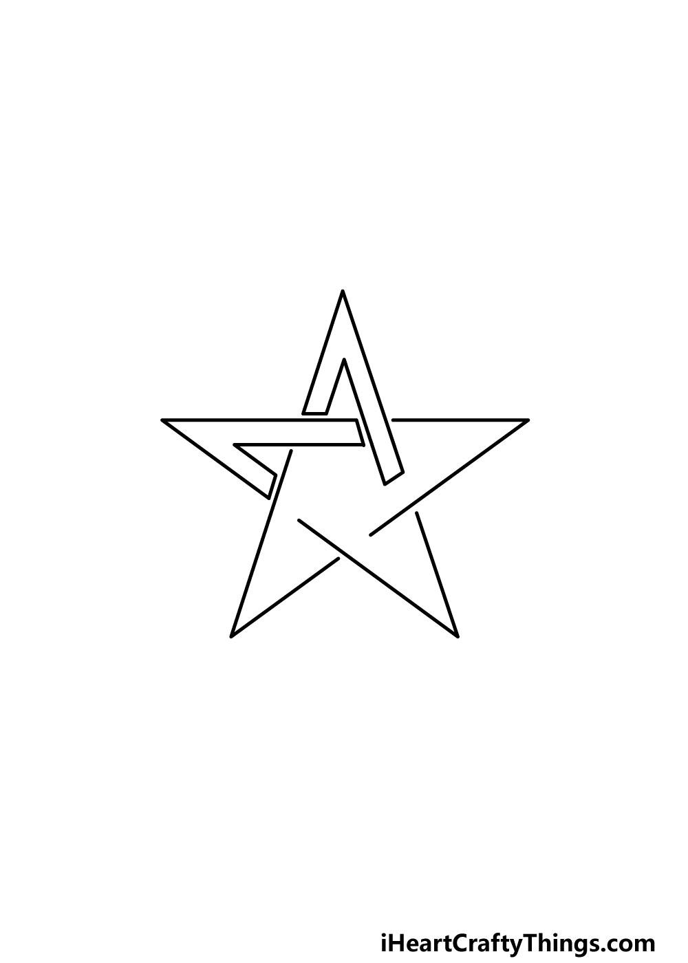 drawing a pentagram step 3