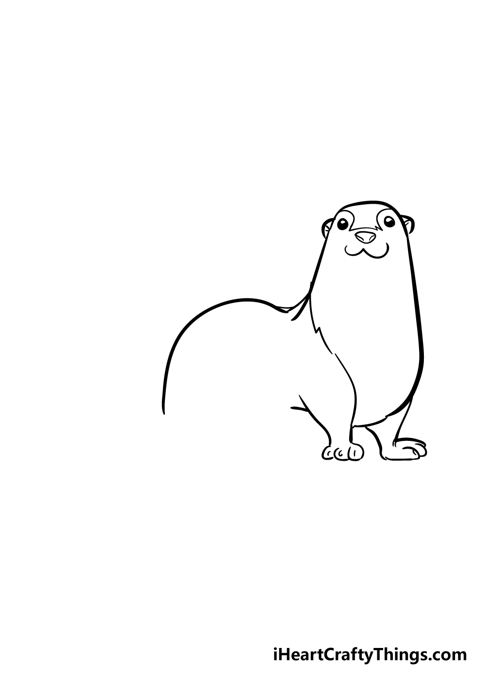 otter drawing step 3