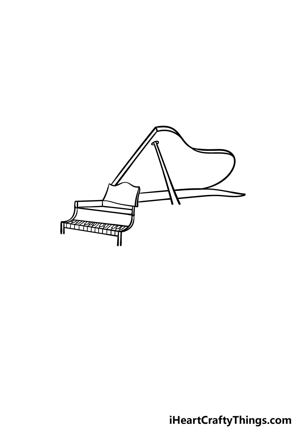 drawing a piano step 3