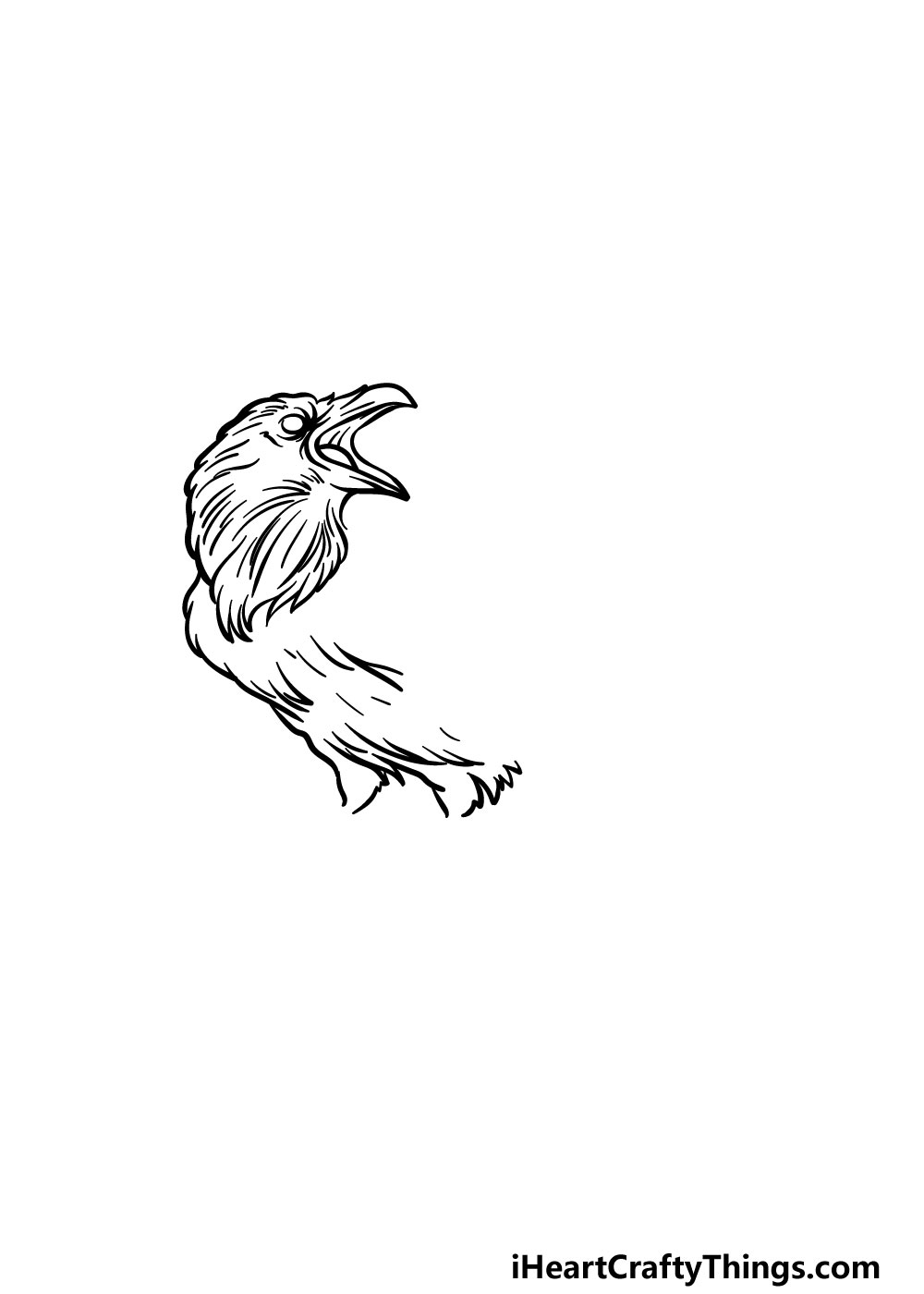 drawing a raven step 3