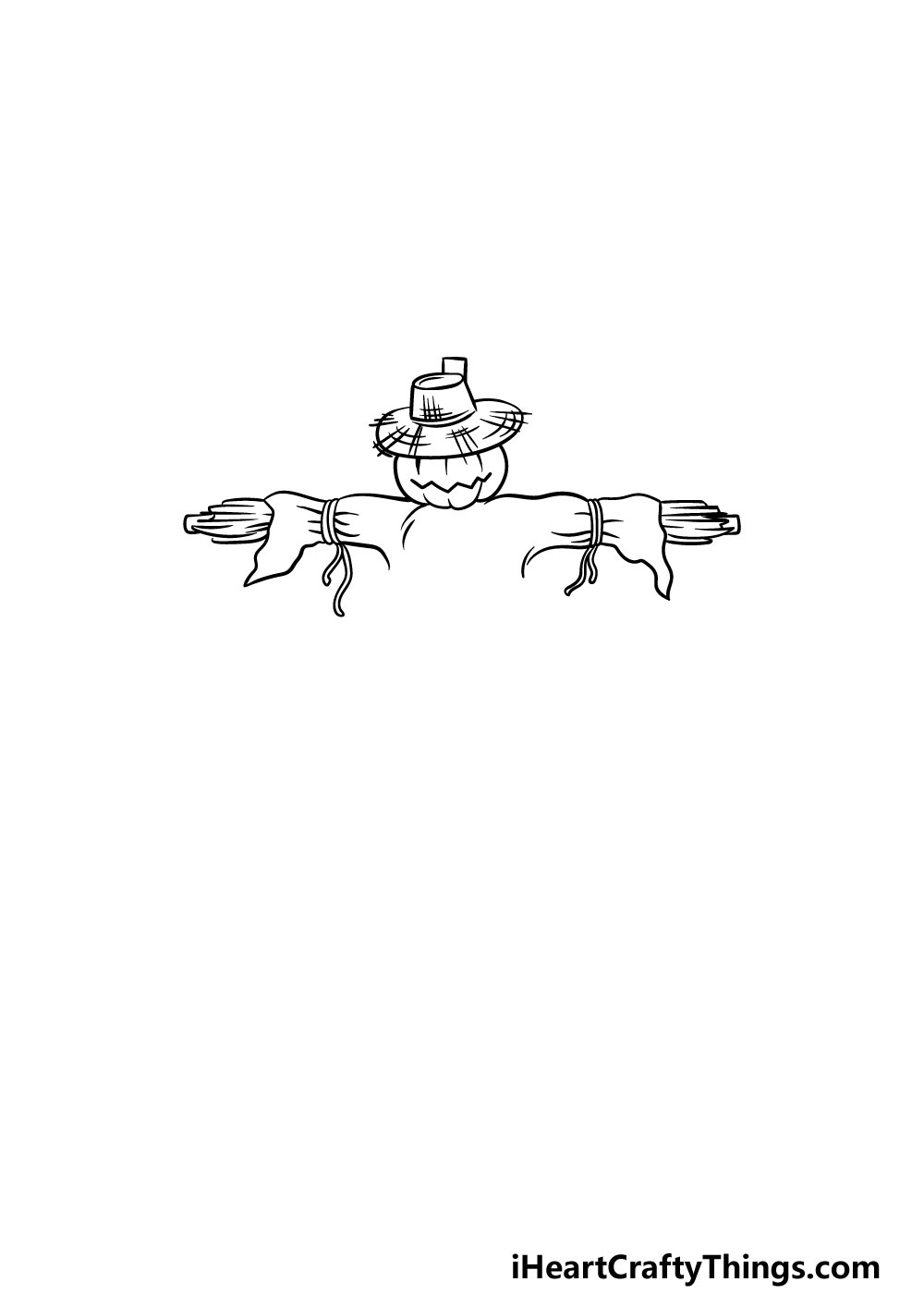 drawing a scarecrow step 3