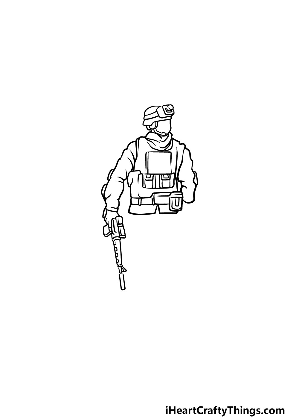 drawing a soldier step 3