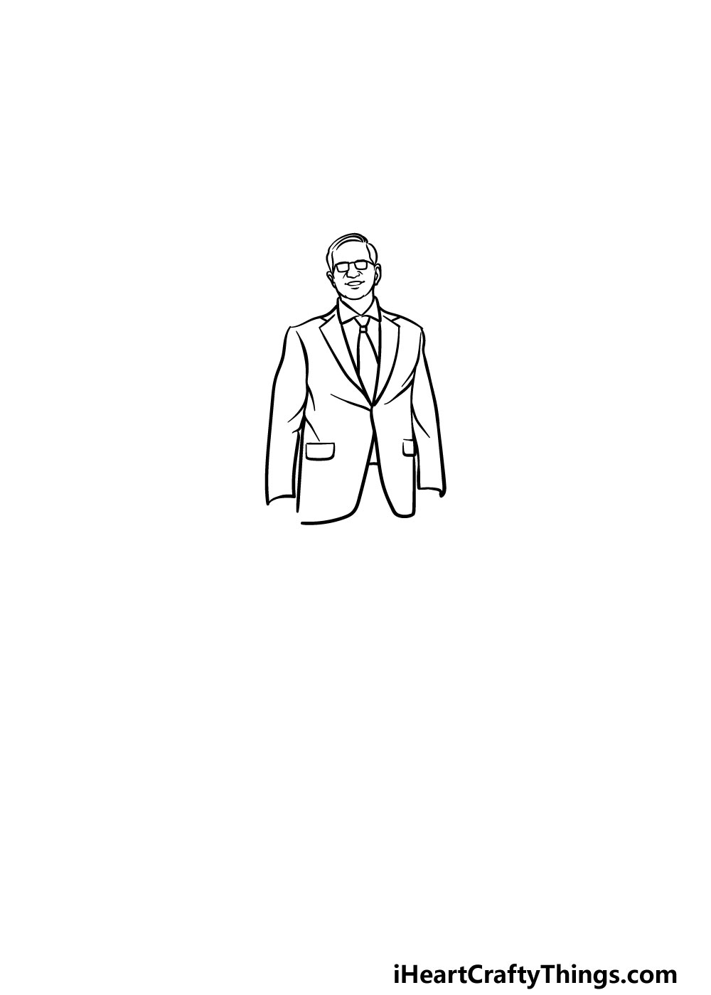 drawing a suit step 3