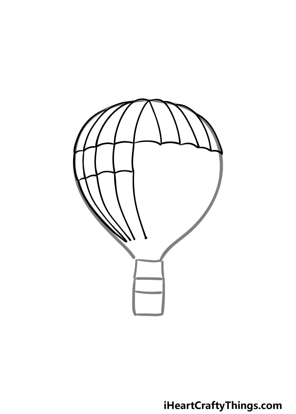 drawing a hot air balloon step 3