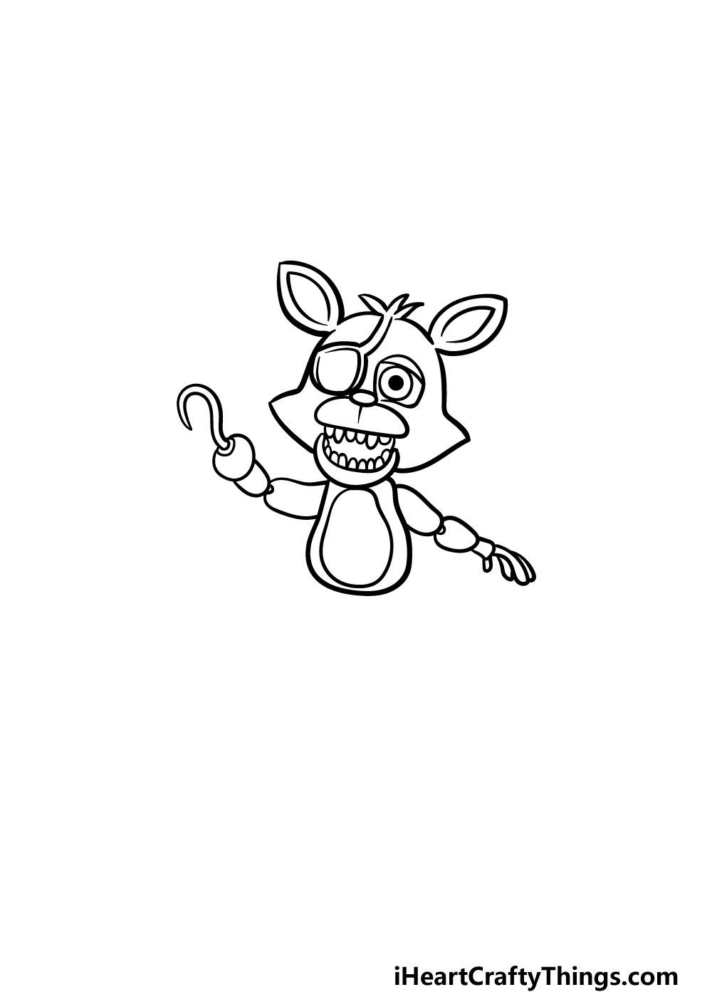 drawing foxy step 3