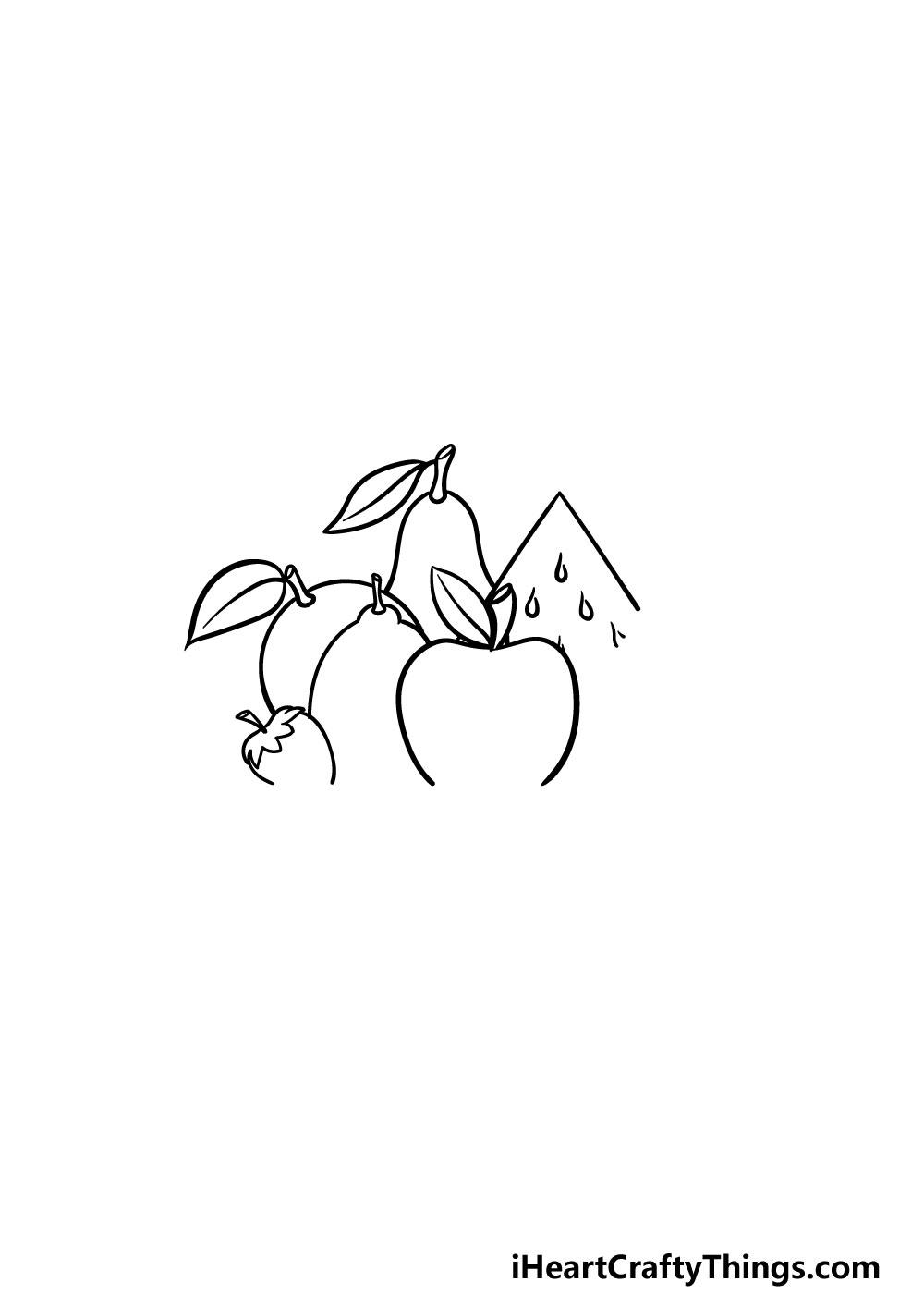 drawing fruits step 3