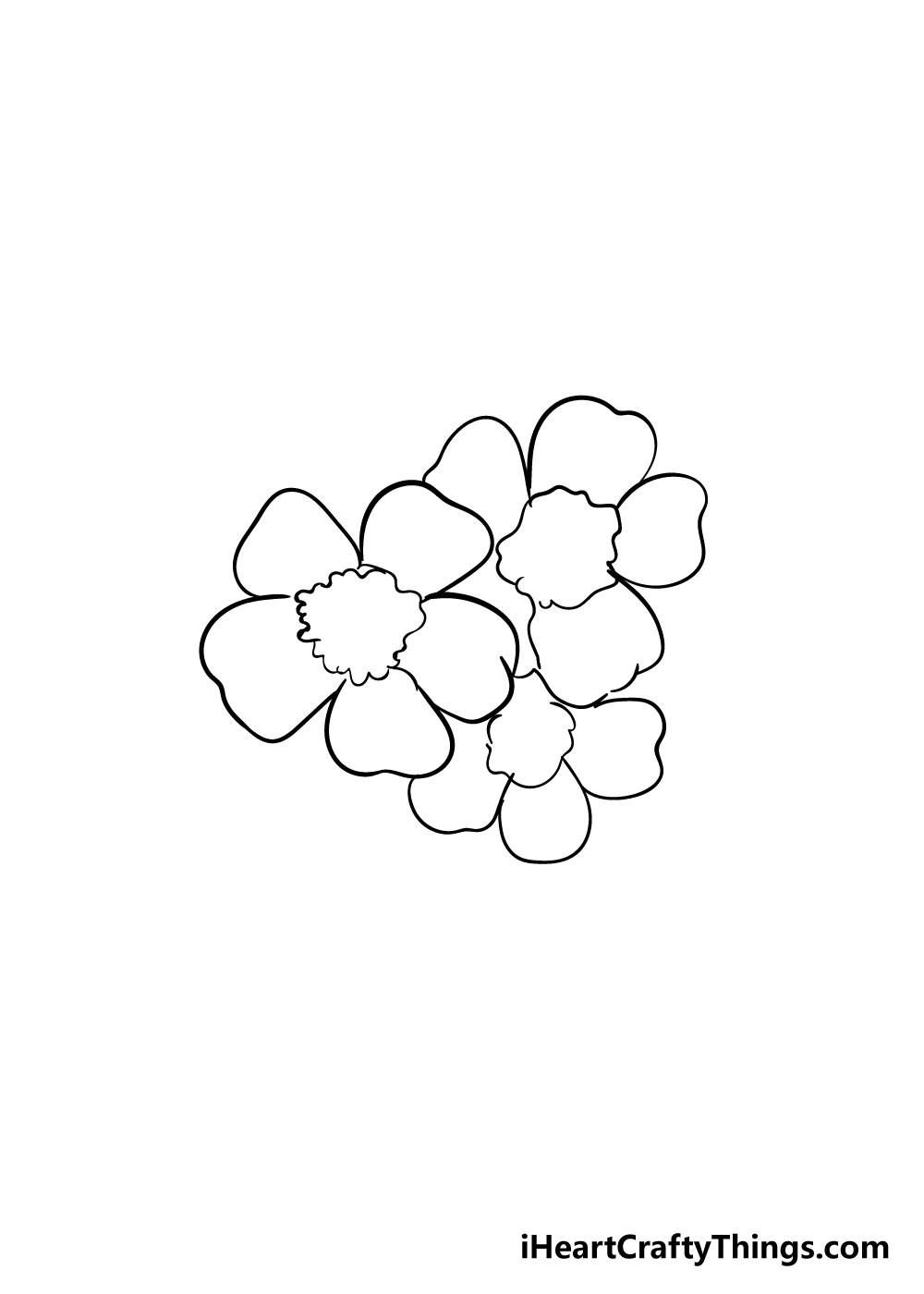cherry blossoms drawing step 4