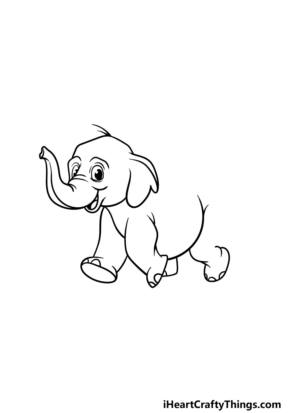 drawing a baby elephant step 4