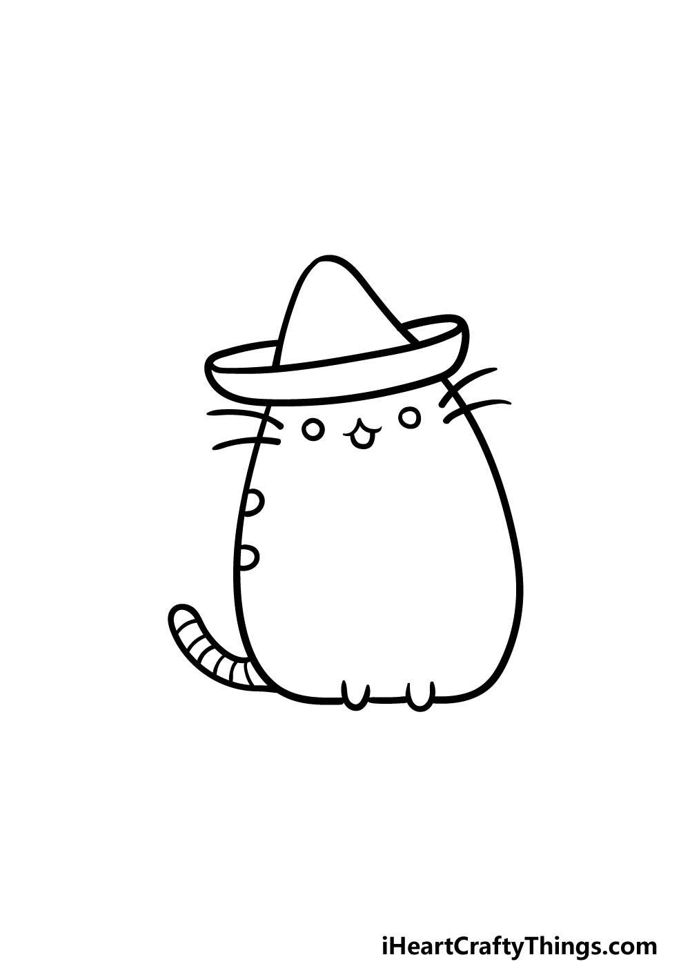 drawing pusheen cat step 4