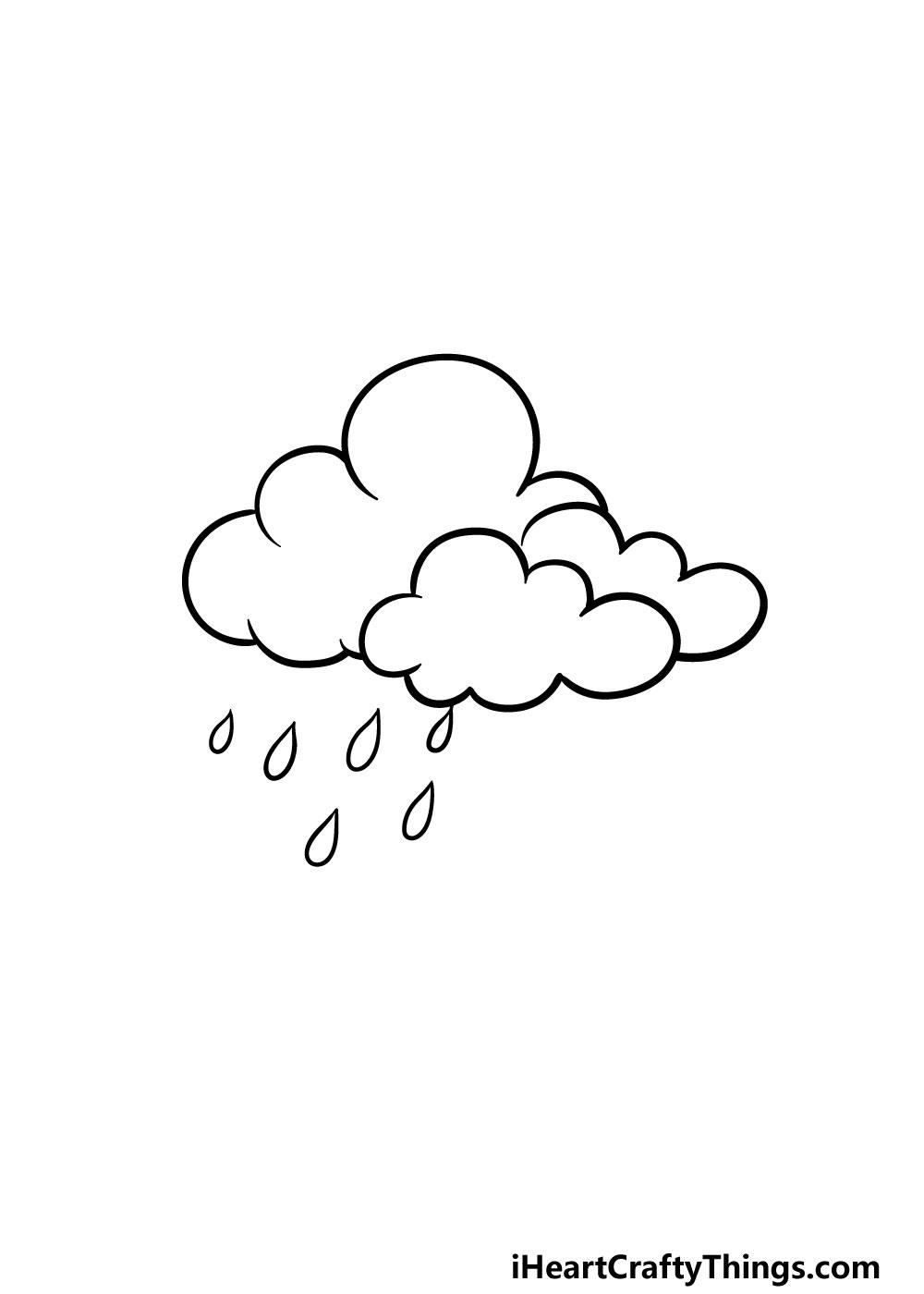drawing rain step 4