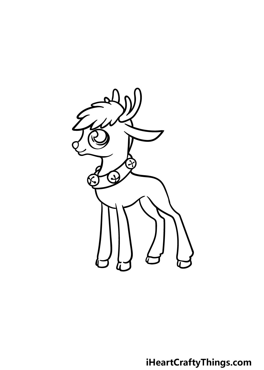 drawing Rudolph step 4