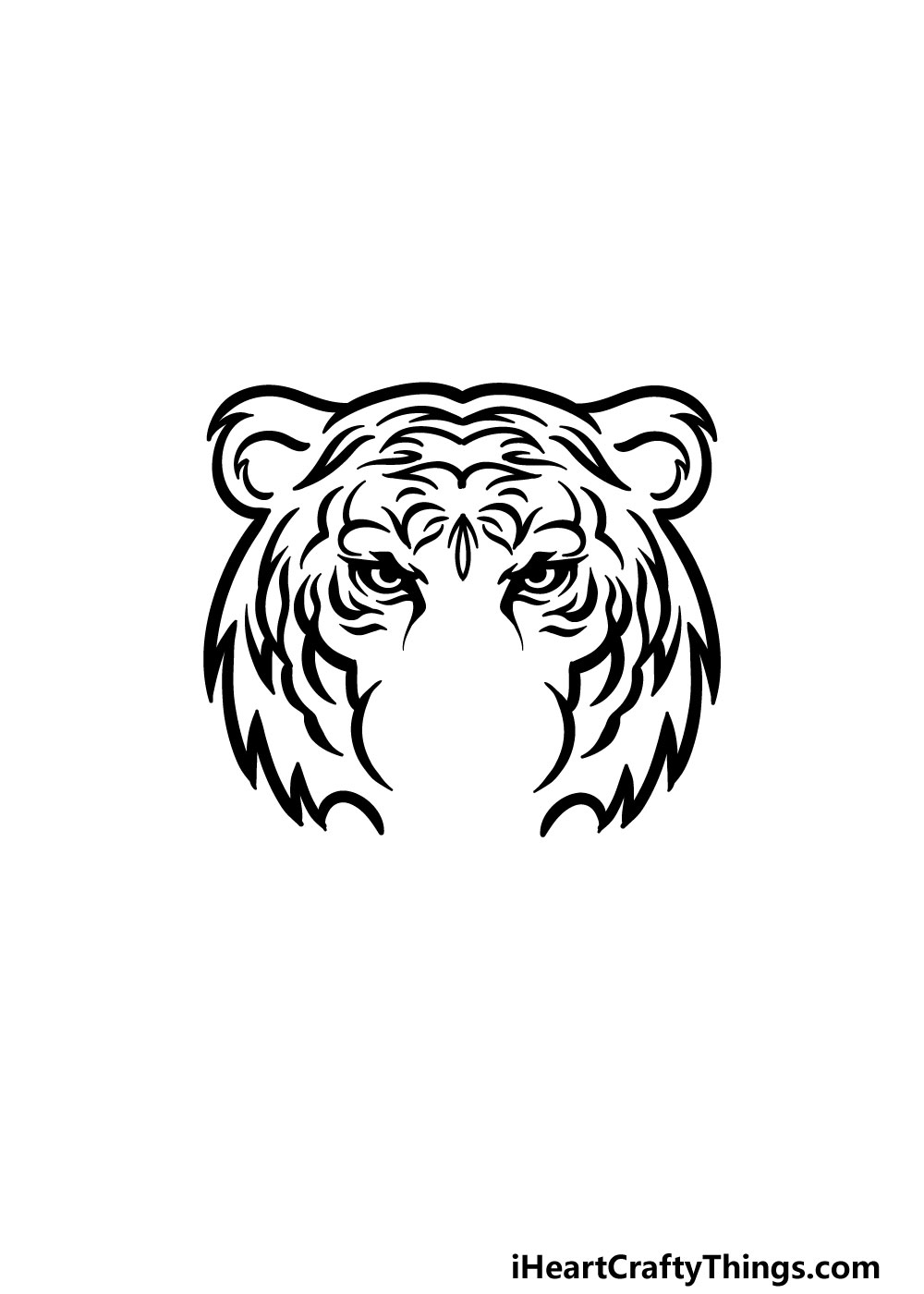 drawing tiger face step 4
