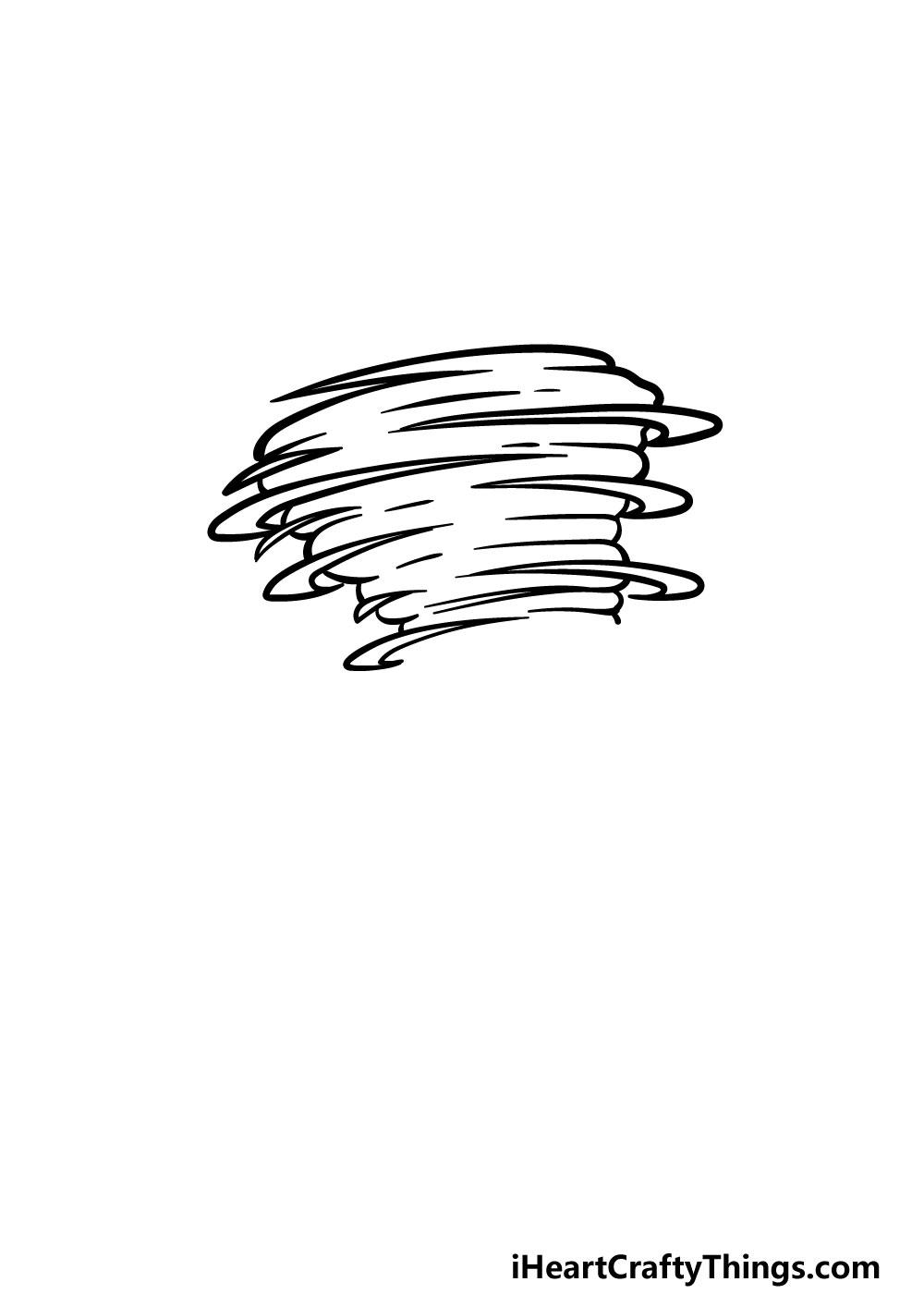 drawing a tornado step 4